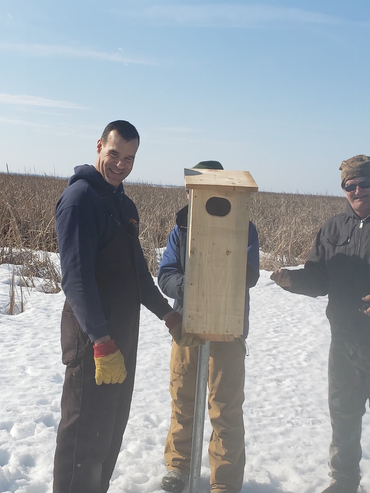 Valley Wood Duck Box Install March 2020.7