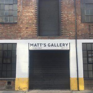 Matt's Gallery entrance