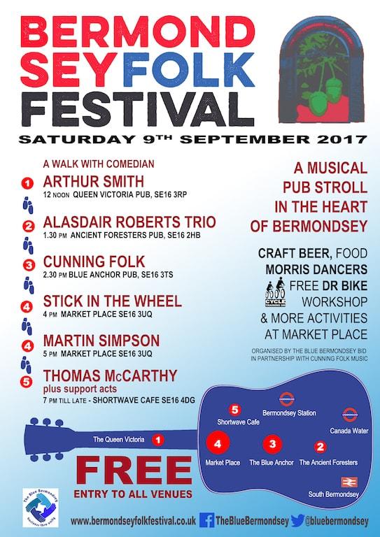 Bermondey Folk Festival 2017 promo