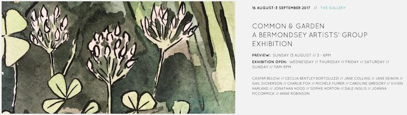 Common and Garden- A Bermondsey Artist's Group Exhibition copy