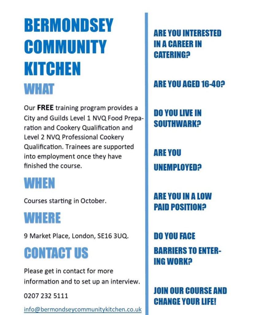 Bermondsey Community Kitchen Sept 2017