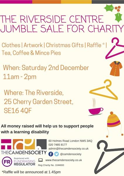 Riverside Centre Jumble poster