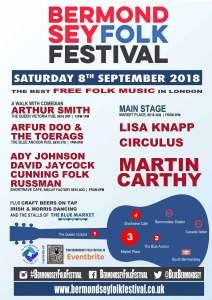 Bermondsey Folk Festival 2018 poster