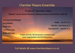 Chamber Players Ensemble Brunel Museum Thames Tunnel Concert