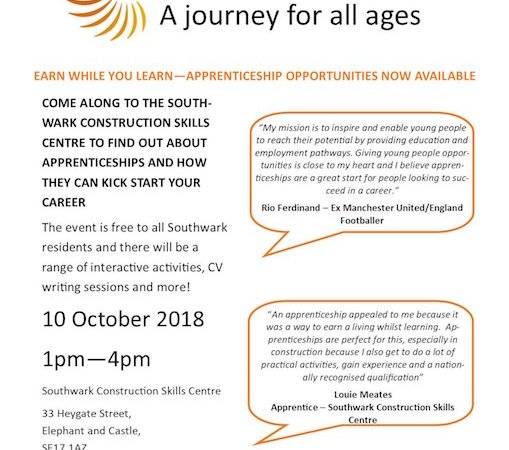 Apprenticeships, a journey for all ages
