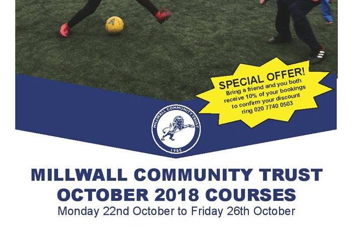 Millwall community Trust October Courses 01