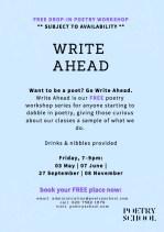 The Poetry School Write Ahead 2019