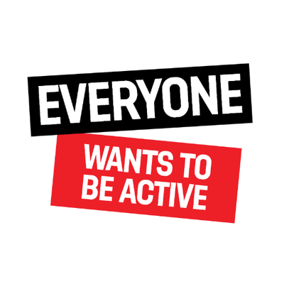 Everyone wants to be active logo