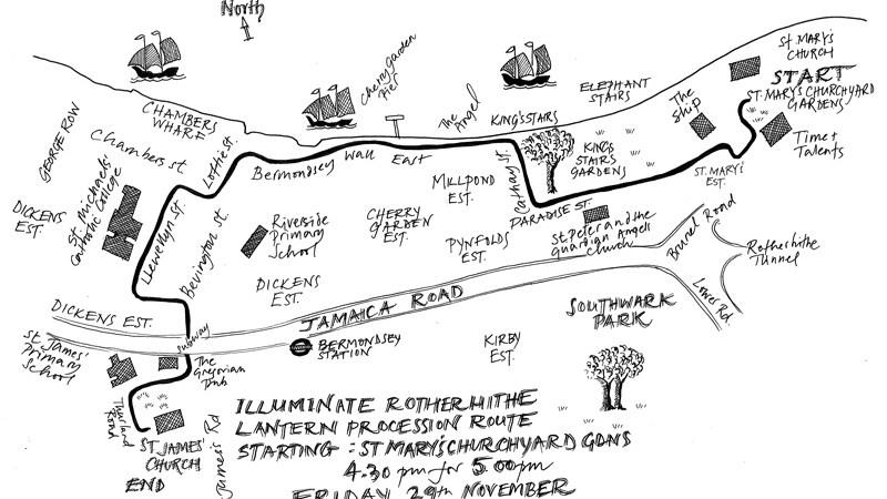 Illuminate-Rotherhithe-Bermondsey-Lantern-procession-route-2019