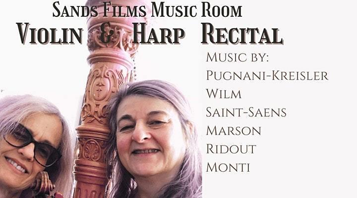 Sands Films Music Room: Violin and Harp Recital concert -30 September 2021