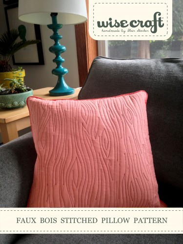 Faux Bois Stitched Pillow Class with Wise Craft