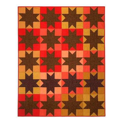 Calico Star Quilt front by Wise Craft Handmade