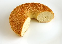 200 Calories of Sesame Seed Bagel