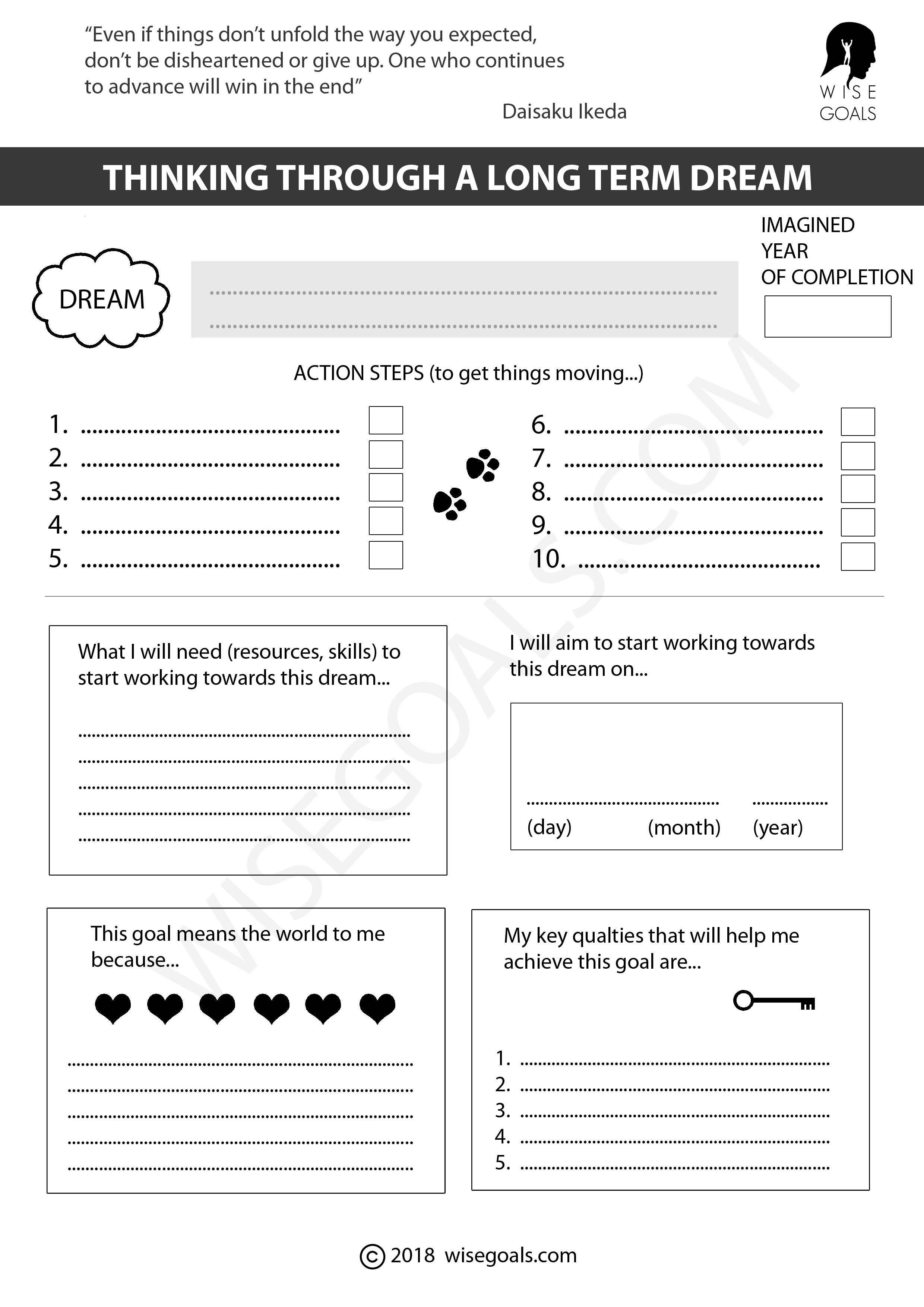 6 Stylish Goal Setting Worksheets To Print