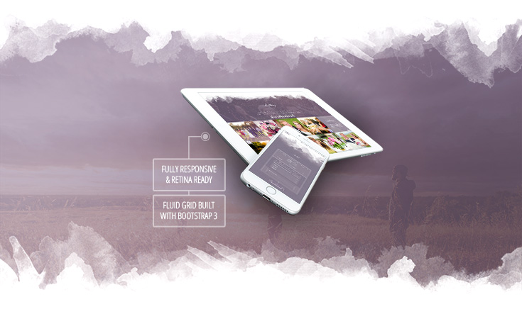 Lilac- Responsive One-page HTML5 Wedding Template - 2