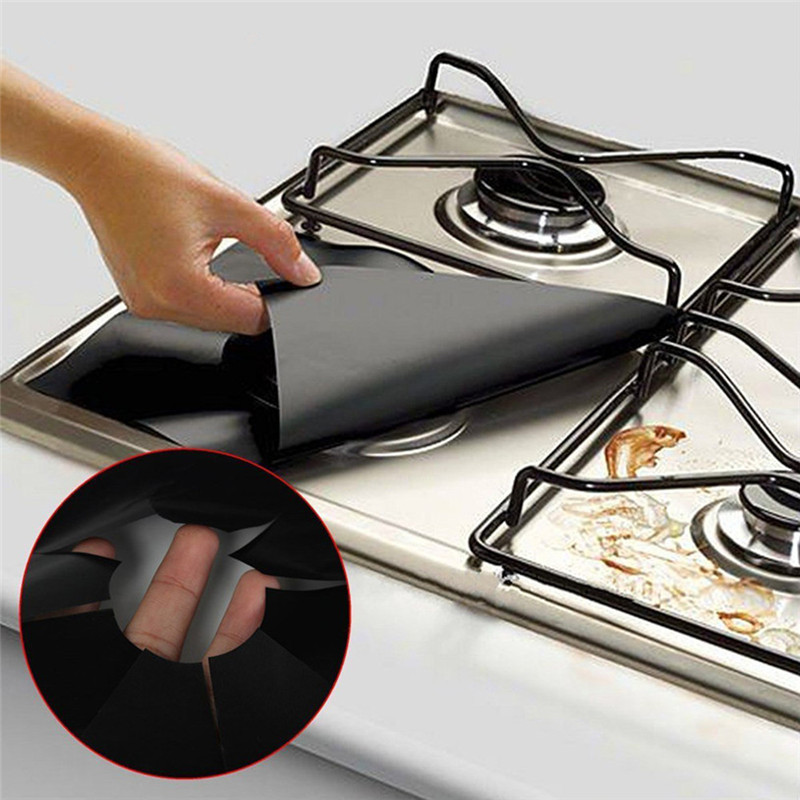 Reusable Gas Stovetop Burner Protector Cover, 2pcs/lot | Wise Outlets |