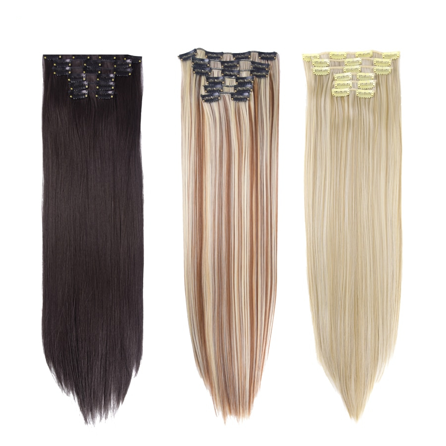 Straight Heat Resistant False Synthetic Hair and complete choice now
