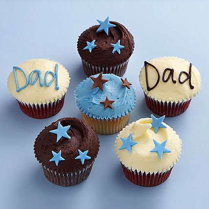 Twinkling Stars Cupcakes for Dad