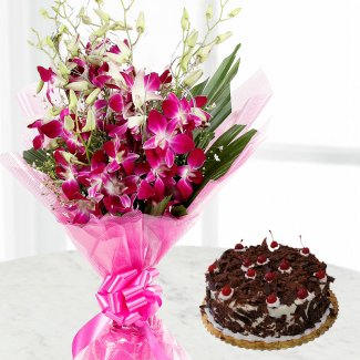 Blackforest Cake & Orchids