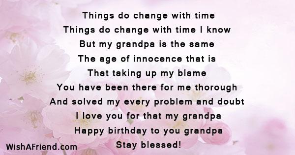 Grandfather Birthday Poems