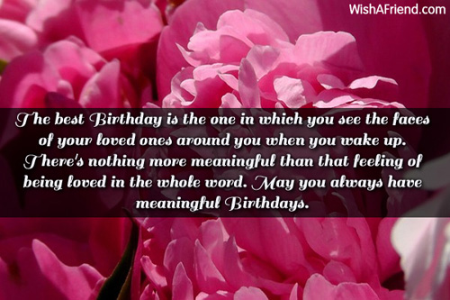 Sentimental Birthday Sister Wishes