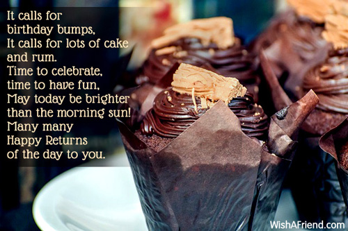 It Calls For Birthday Bumps Happy Birthday Poem