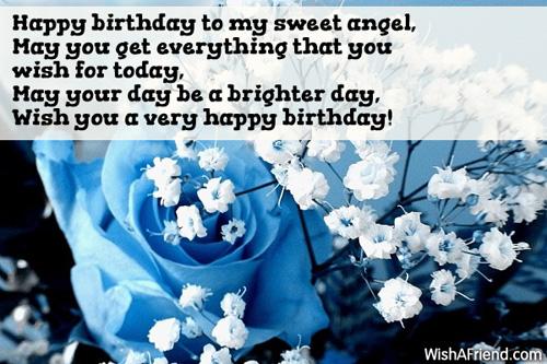 Happy Birthday To My Sweet Angel Daughter Birthday Message