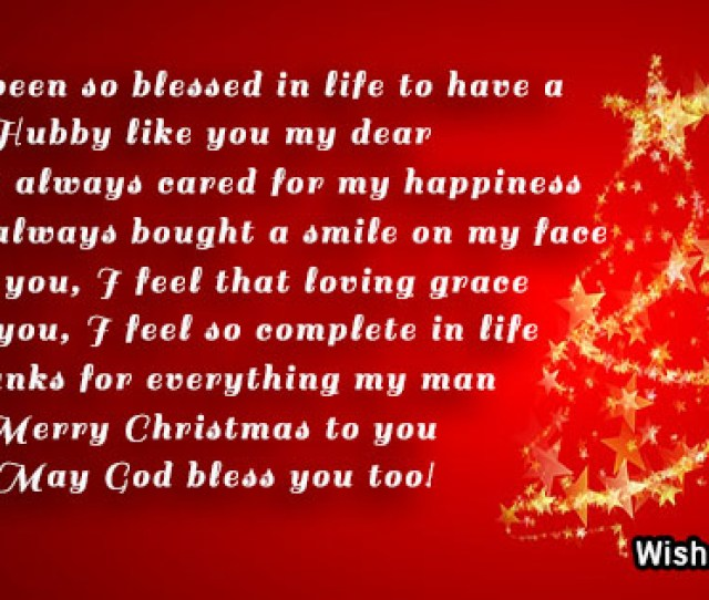 Christmas Messages For Husband