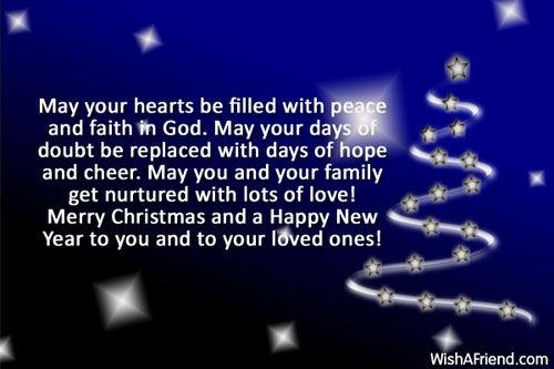 May Your Hearts Be Filled With Christmas Message
