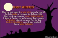 scary halloween poems