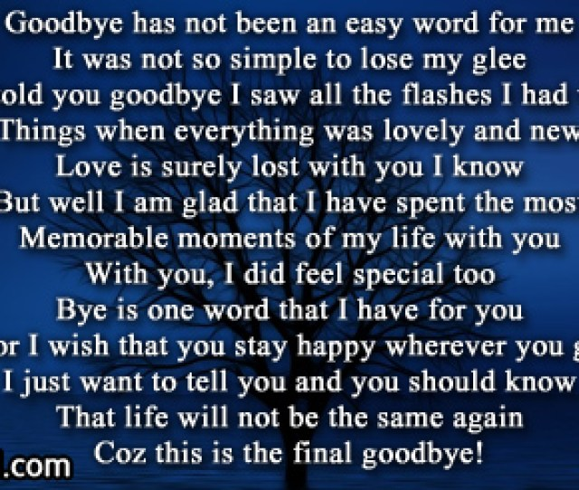 Goodbye To You My Love
