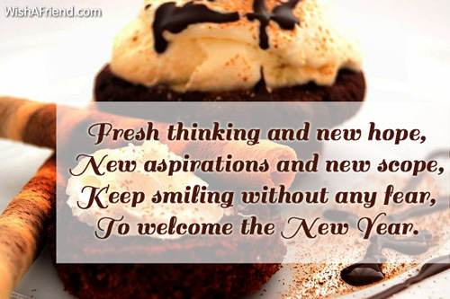Fresh thinking and new hope  New aspirations  New Year Wish 6908 new year wishes