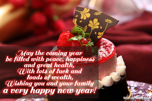 happy new year messages friends family