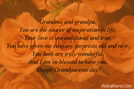 To Both Of You Poem For Grandparents Day