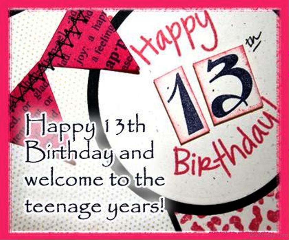 62 13th Happy Birthday Wishes