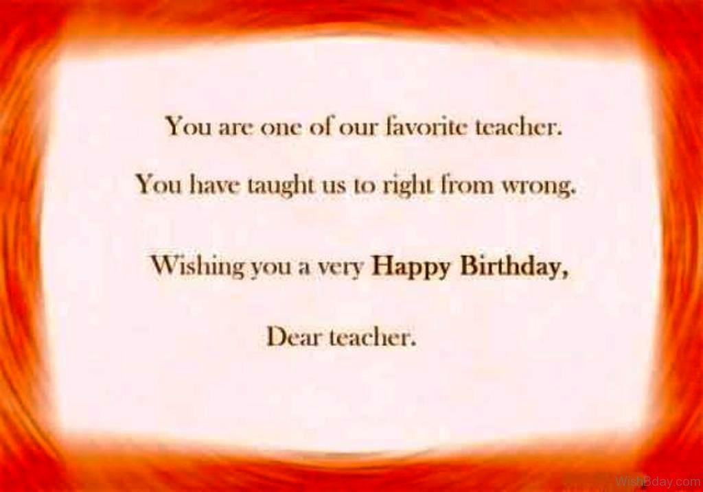 55 Birthday Wishes For Teacher