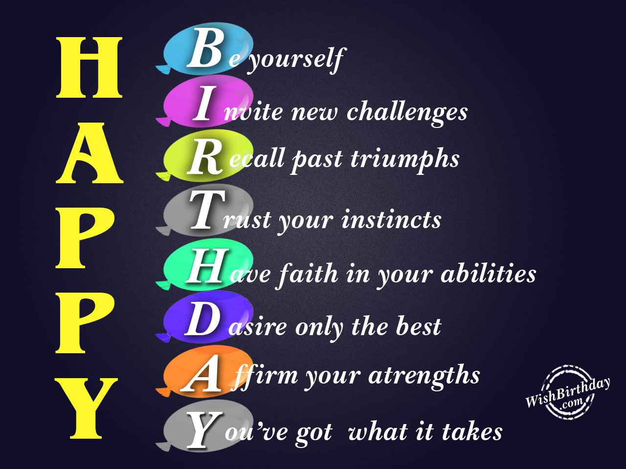 Happy Birthday Wishes Yourself