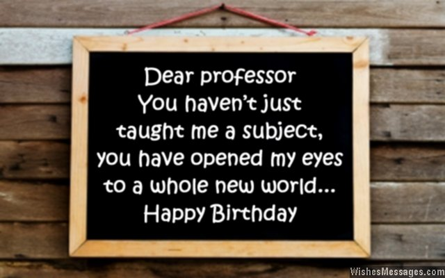 Birthday Wishes For Professor