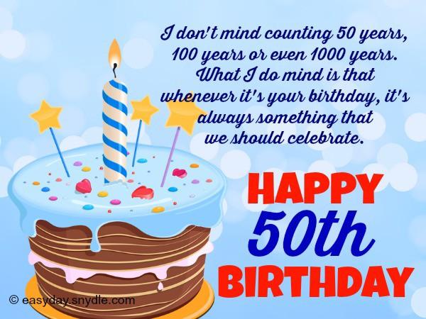 Birthday 50th Happy Greetings