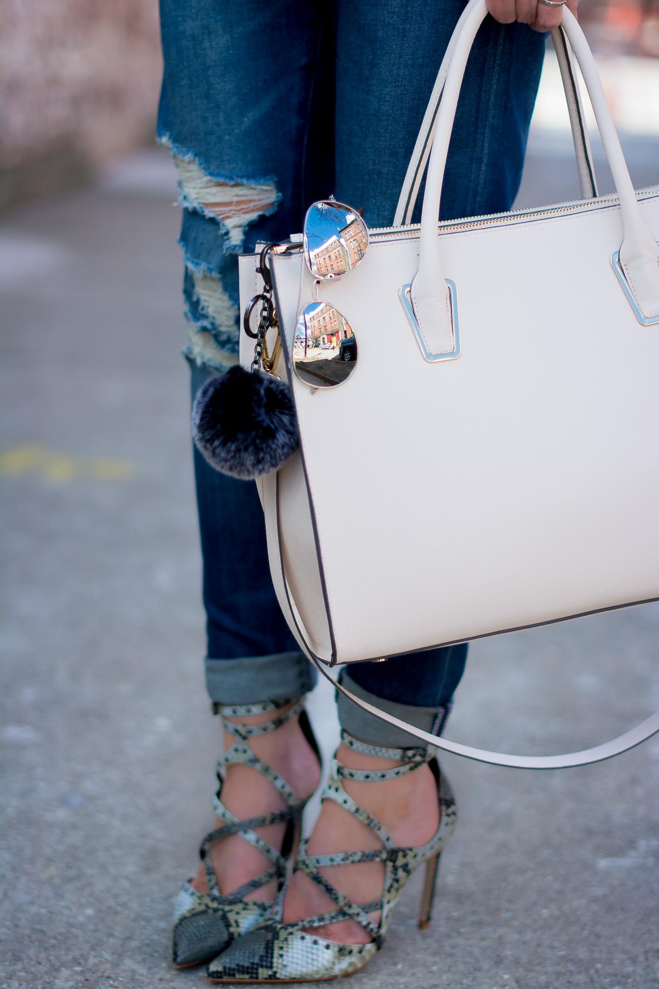 how-blogging-changed-my-life-distressed-boyfriend-jeans-snakeskin-heels-blush-tote-mirrored-aviators
