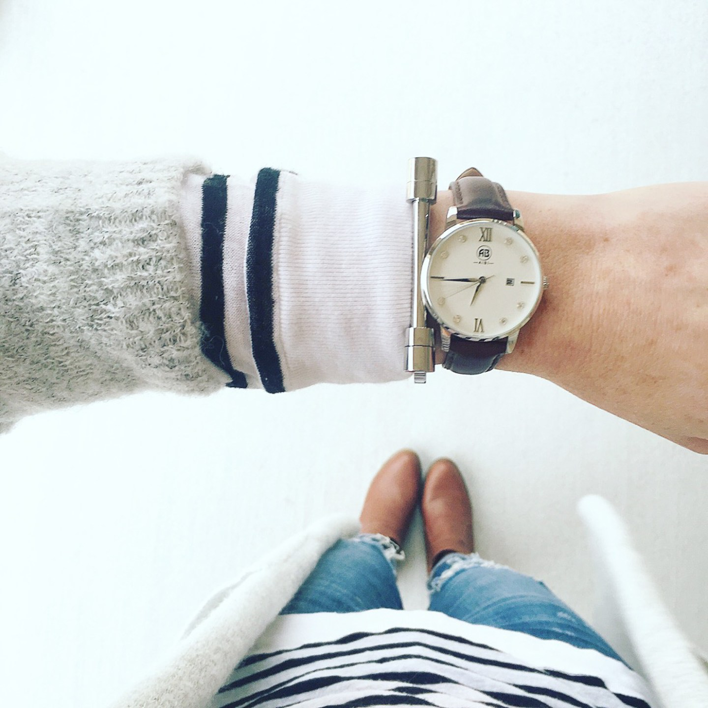 albi watches, striped t by alexander wang top