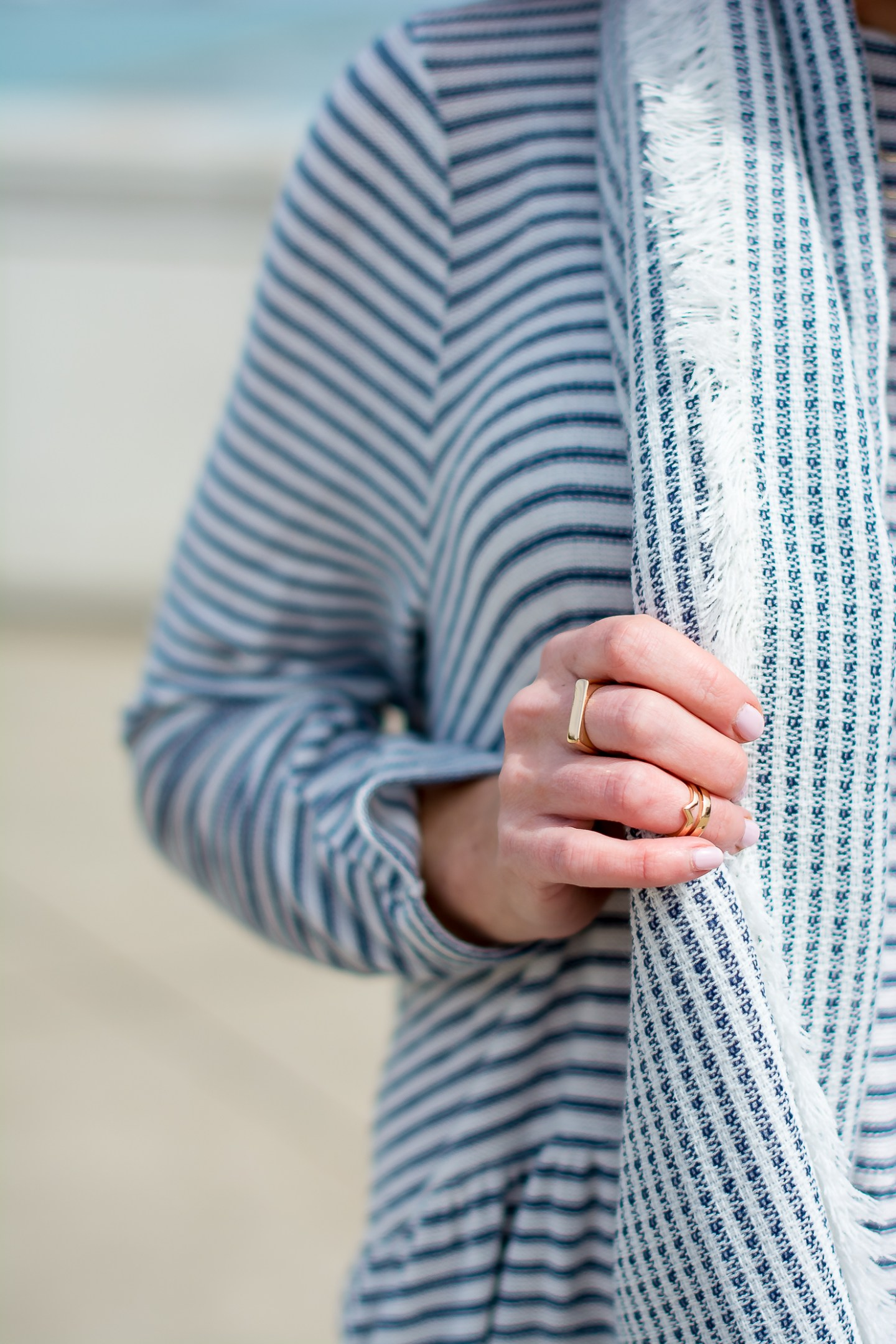 stripes-by-the-sea-chicago-shedd-aquarium-new-look-striped-peplum-sweater-forever-21-navy-striped-scarf