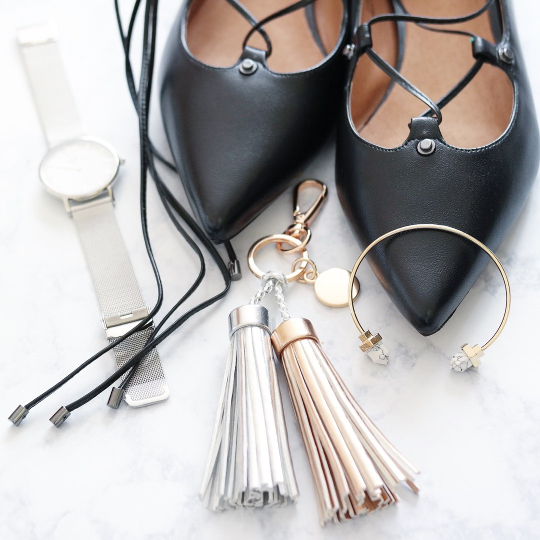 black-lace-up-halogen-flats-metallic-tassel-bag-charm-marble-cuff-kapten-and-son-silver-watch-instagram