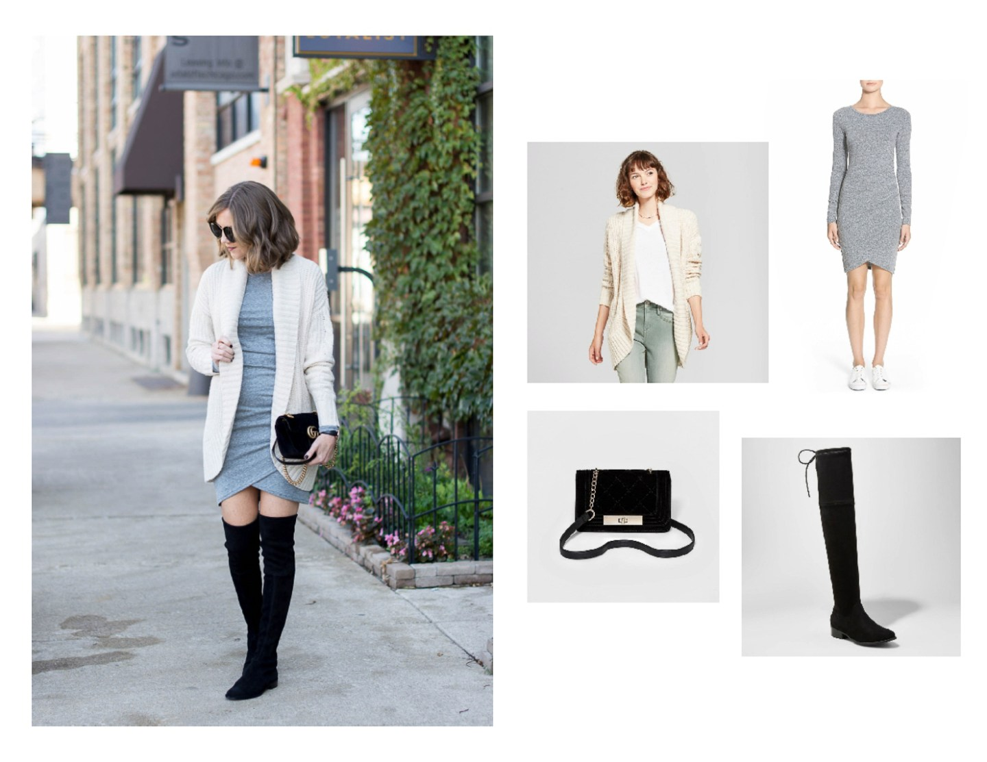 flattering and comfortable wrap dress, easy thanksgiving outfit ideas, casual thanksgiving look