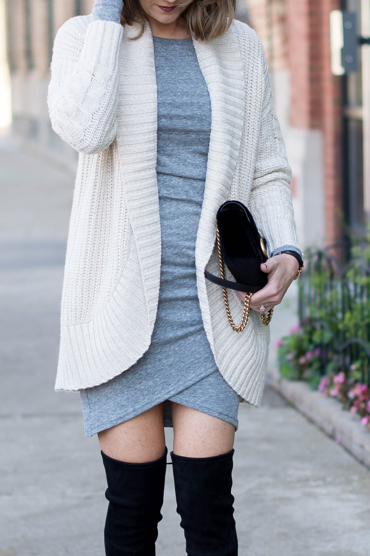 the most versatile dress you'll own, the dress that flatters every body type, how to style a short dress in the winter, cozy layers