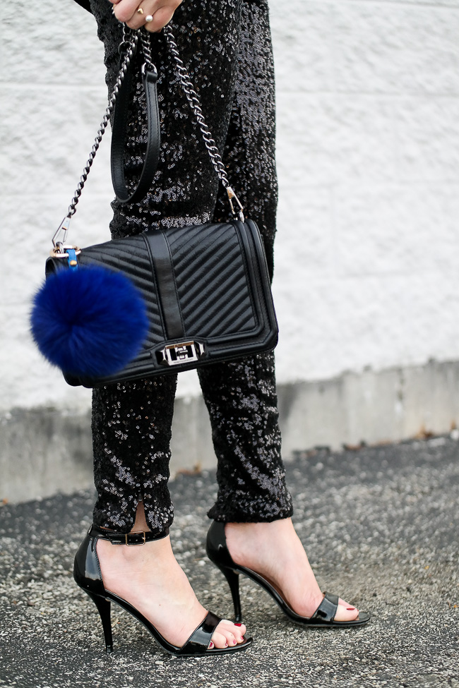 Easy New Year's Eve Outfit Ideas, what to wear for new year's eve, New Years outfit ideas, sequin pants, holiday outfit