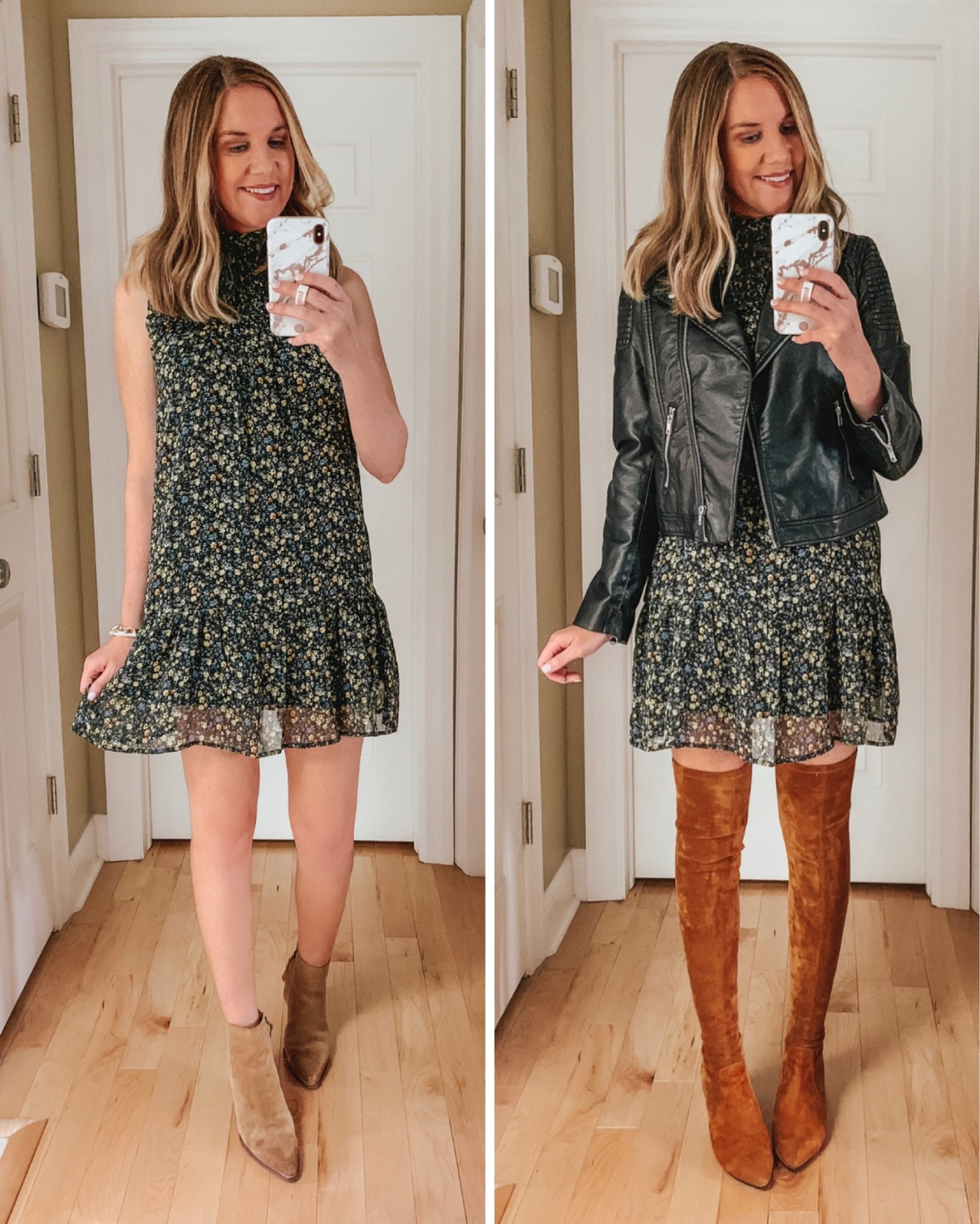 best fall dresses under $40, affordable fall outfits, how to style a dress in the fall