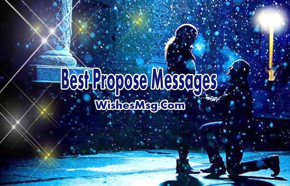 Romantic Proposal Messages Best Proposal Ideas WishesMsg