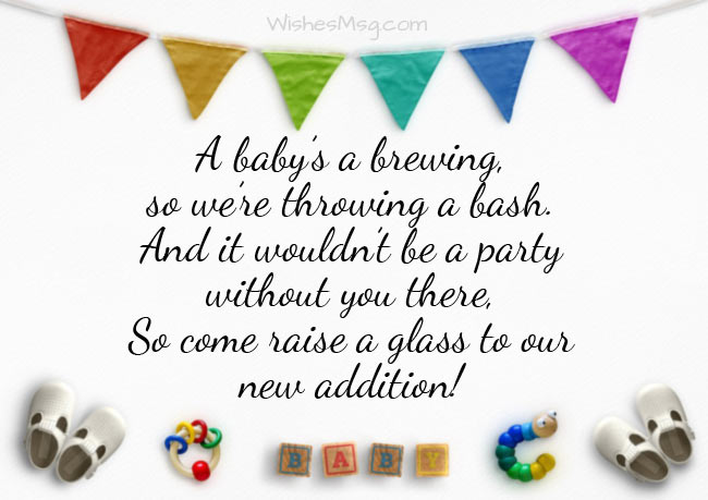 Baby Shower Invitation Wording And Messages Wishesmsg
