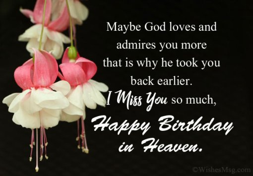 Happy Birthday In Heaven Sister Images